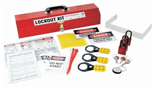 Brady Basic Lockout Kit, Option #1 Mechanical risk lockouts; Powder-coated
