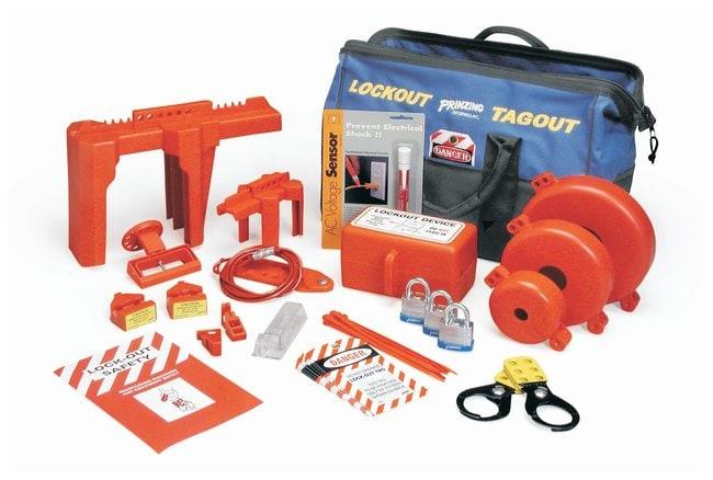 Brady Ultimate Lockout Kit Electrical & mechanical risk lockouts:Gloves,
