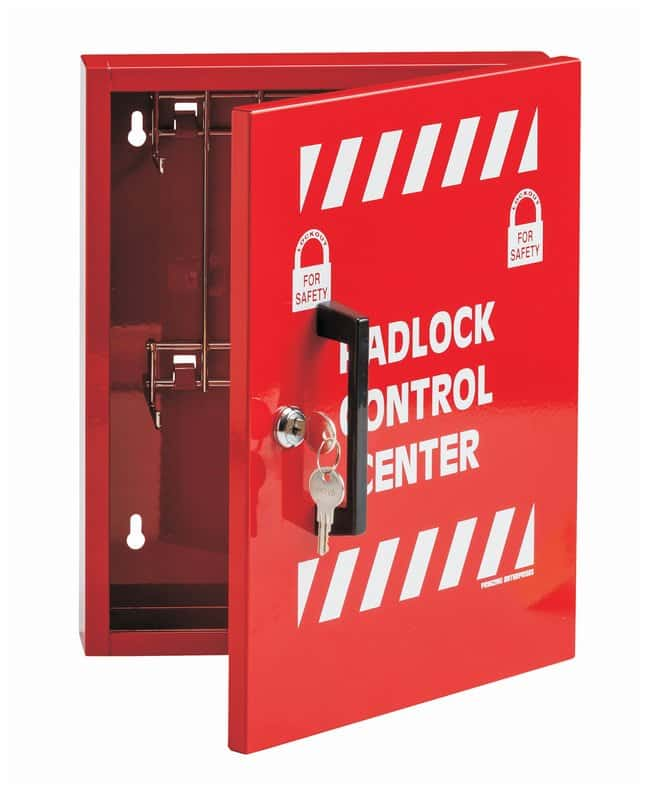 Brady Small Steel Padlock Control Center Cabinet; Powder-coated steel;