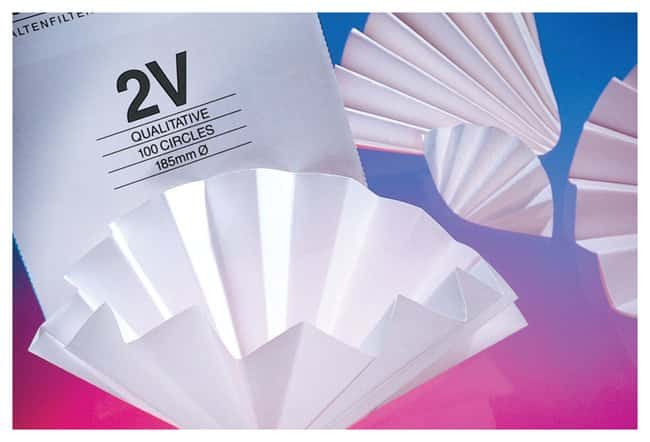 Cytiva (Formerly GE Healthcare Life Sciences) Whatman™ Grade 2V Folded Qualitative Filter Papers 2V Grade; Diameter: 12.5cm Cytiva (Formerly GE Healthcare Life Sciences) Whatman™ Grade 2V Folded Qualitative Filter Papers