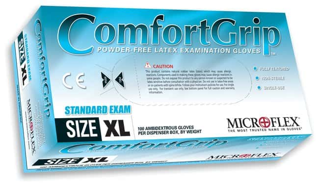 Microflex Comfort Grip Powder-Free Latex Exam Gloves  X-Large:Gloves, Glasses