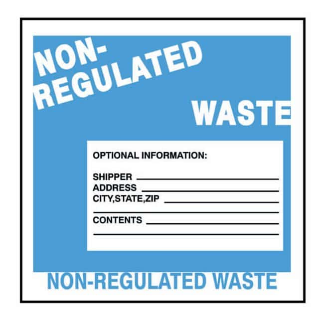 National Marker Vinyl Shipping Labels for Hazardous and Nonhazardous Waste:Gloves,