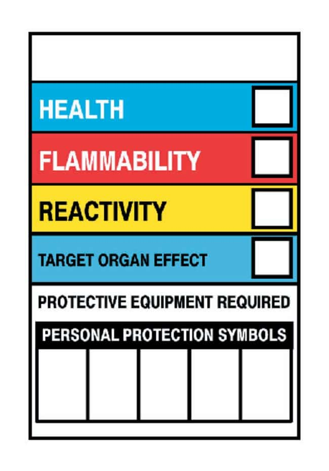 National Marker Vinyl Write-On HMIG Labels:Gloves, Glasses and Safety:Facility