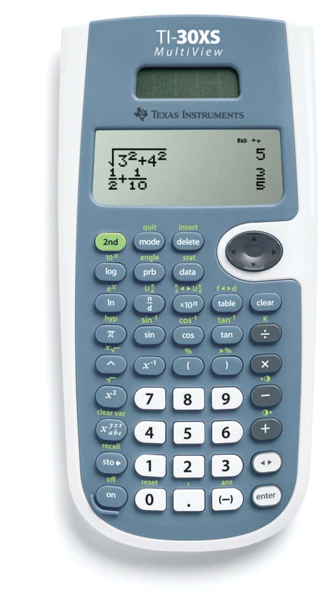 Texas Instruments TI-30XS MultiView Scientific Calculator -  Spectrophotometers, Refractometers and Benchtop Instruments, Counting  Devices