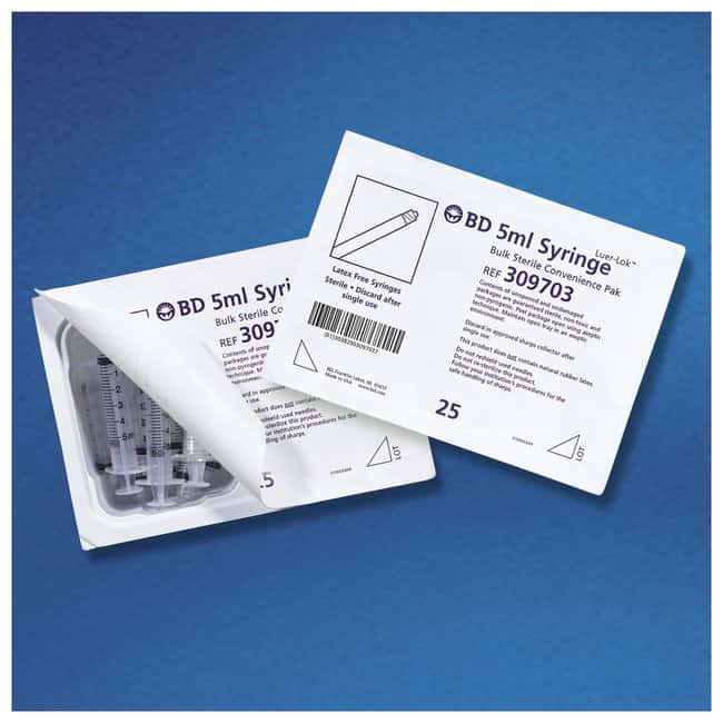 BD Bulk Sterile Packaged Syringes:Gloves, Glasses and Safety:First Aid