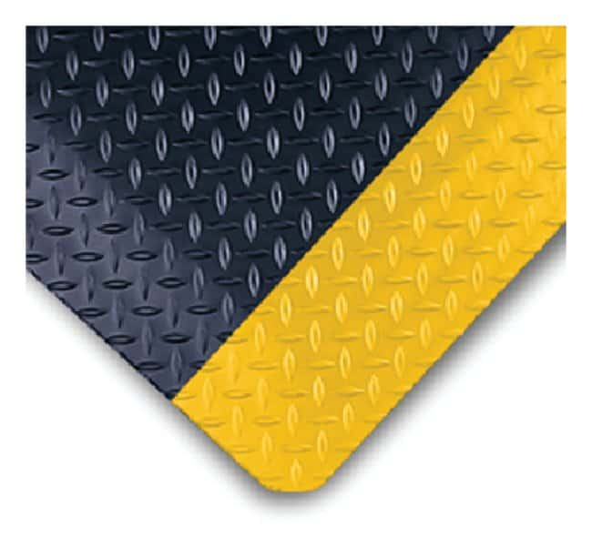 Wearwell Diamond-Plate SpongeCote Mat  L x W: 3 x 2 ft.; Color: black and