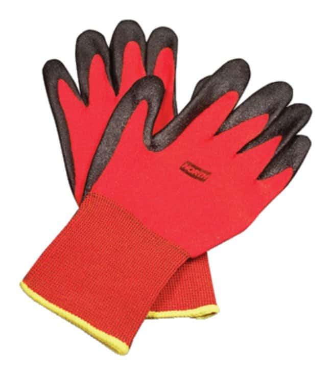 Honeywell North NorthFlex Red Foamed PVC Palm Coated Gloves Size: Large