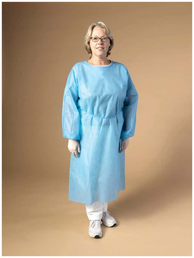 High Five Spunbond Isolation Gowns Blue; 2X-Large:Gloves, Glasses and