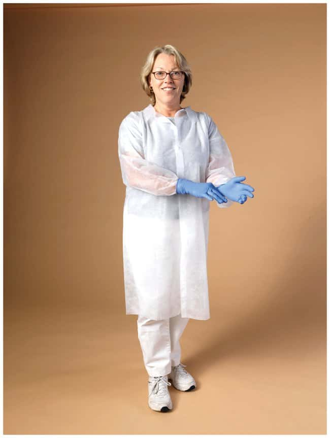High Five Spunbond Polypropylene Lab Coats  White; Medium:Gloves, Glasses