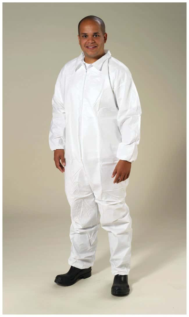 High Five Microporous Coveralls Elastic wrists; Attached hood and boots;
