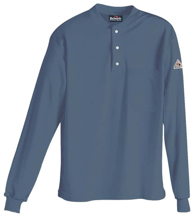 VF Workwear Bulwark Excel-FR Long Sleeve Henley HRC2 Shirts Gray; Regular;