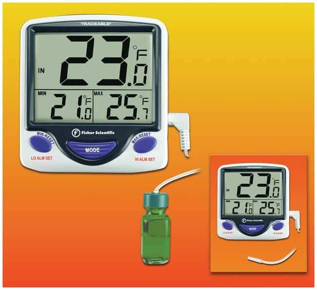 Fisherbrand™ Traceable™ Jumbo Refrigerator/Freezer Thermometers