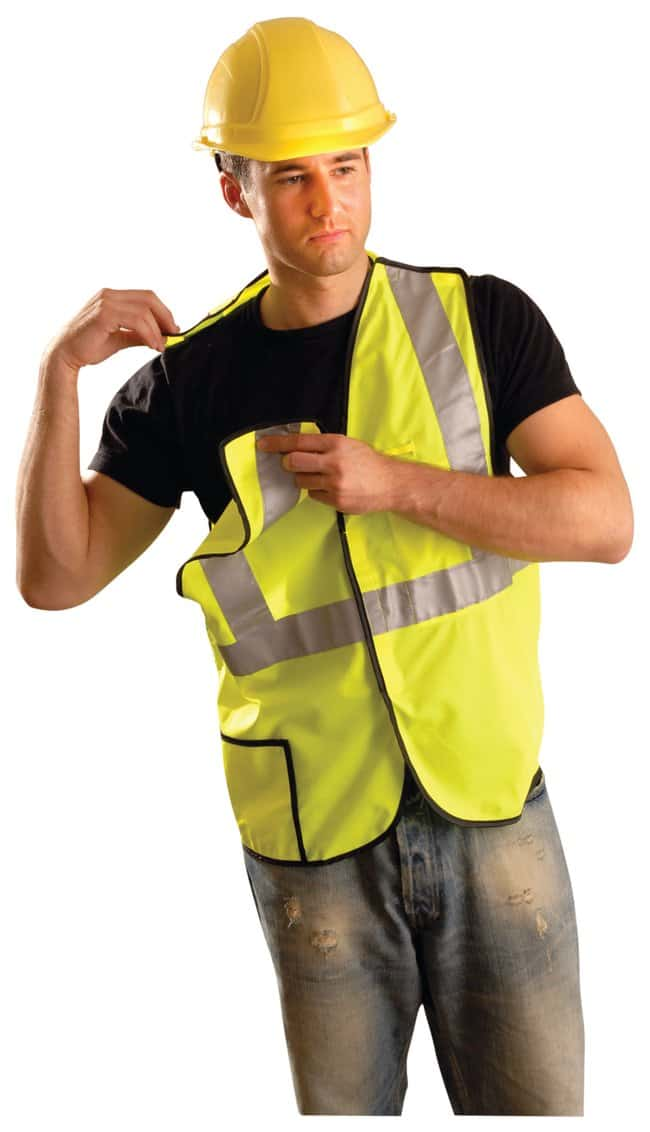 OccuNomix Class II High-Viz Break-Away Vest Yellow; Size: XX-Large:Gloves,