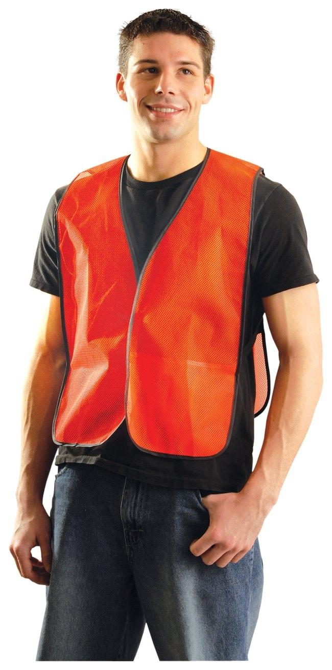 OccuNomix High-Viz Vest Without Reflective Tape Orange; Size X-Large:Gloves,