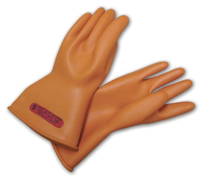 PIP NOVAXElectrical Insulation Gloves Class 00; 11 in. L (27.9cm); Orange;