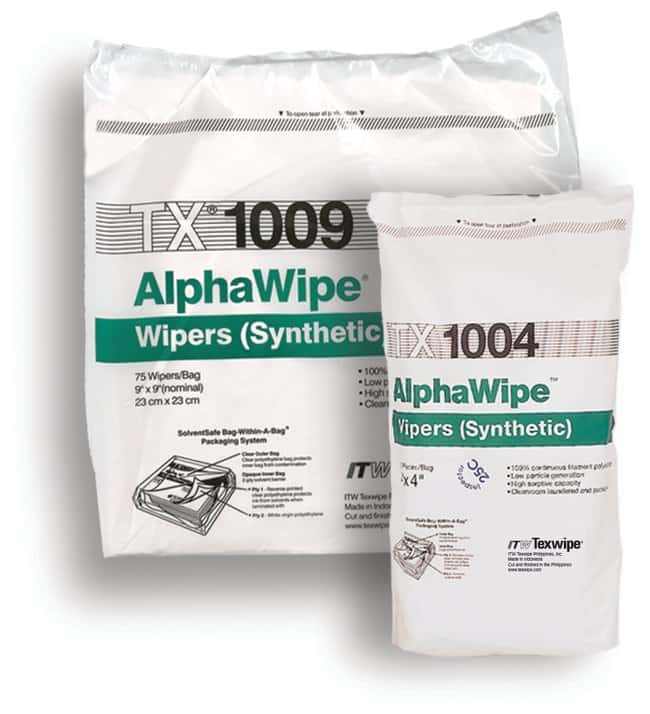 Texwipe™ AlphaWipe™ Polyester Wipers: Wipes and Absorbent Pads Gloves, Glasses and Safety