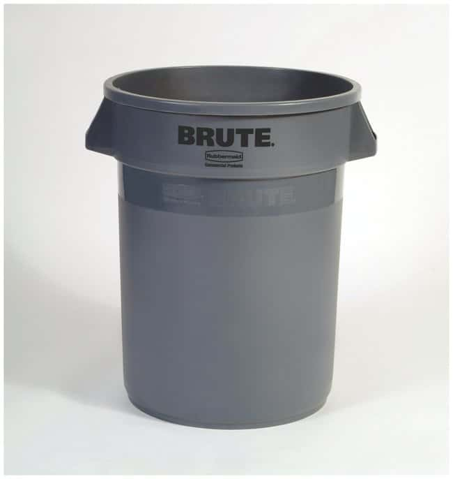 Rubbermaid BRUTE Round Container 32 gallon, Gray:Gloves, Glasses and Safety