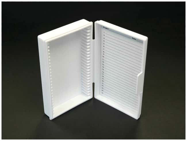 Fisherbrand™Economy Microscope Slide Box 141 x 92 x 30mm; Max. Capacity: 25 Slides; Polypropylene Fisherbrand™Economy Microscope Slide Box