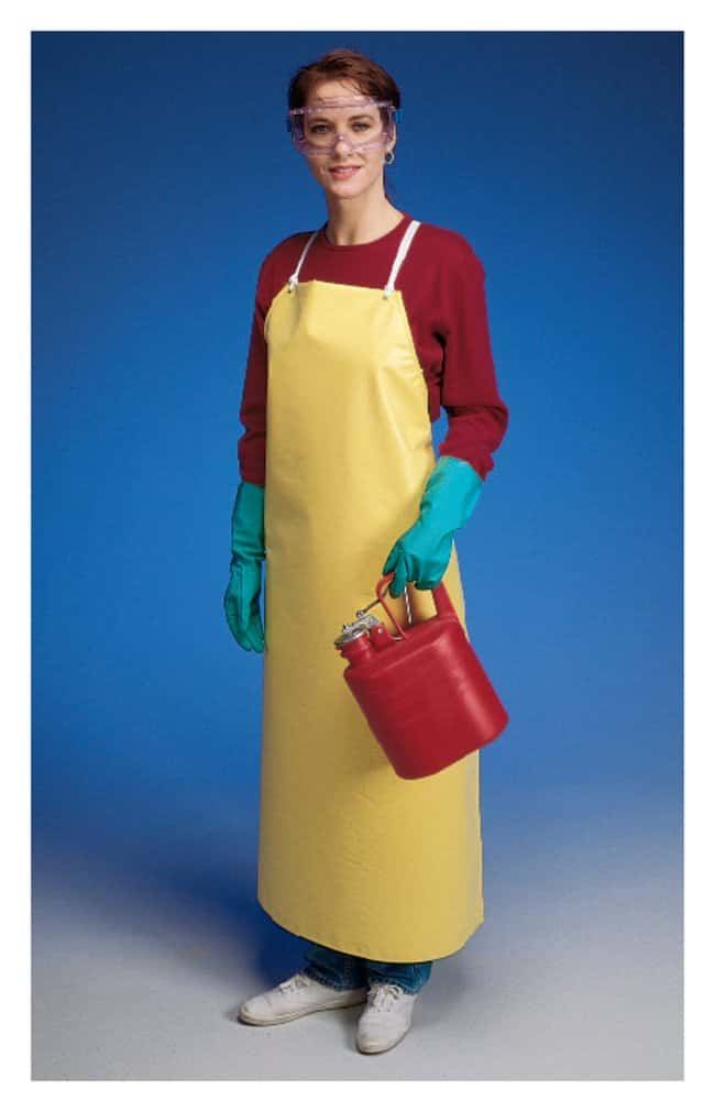 Ansell Hycar Yellow Nitrile/PVC Blend Aprons:Gloves, Glasses and Safety:Lab