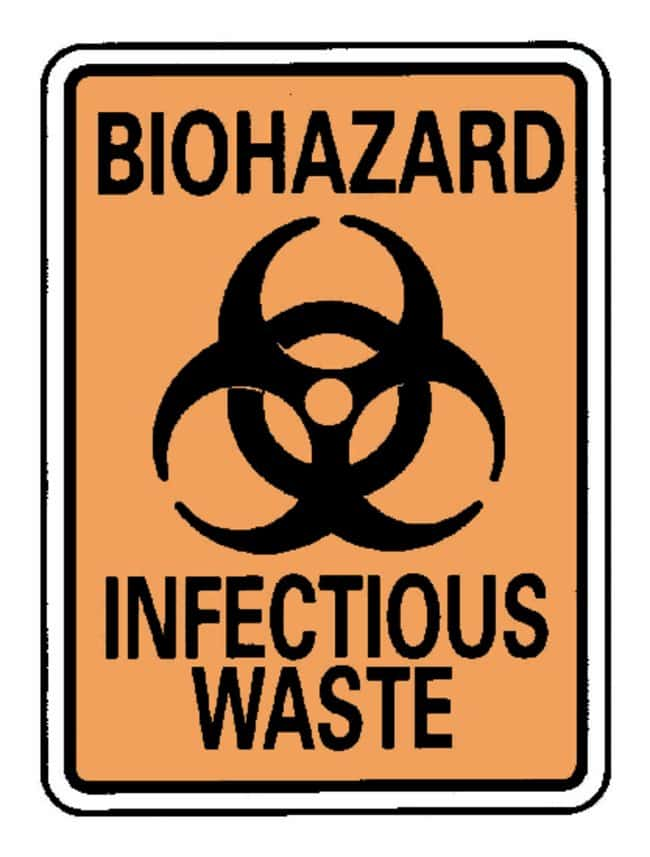 National MarkerBiohazard: Infectious Waste Sign:Facility Safety and Maintenance:Signs