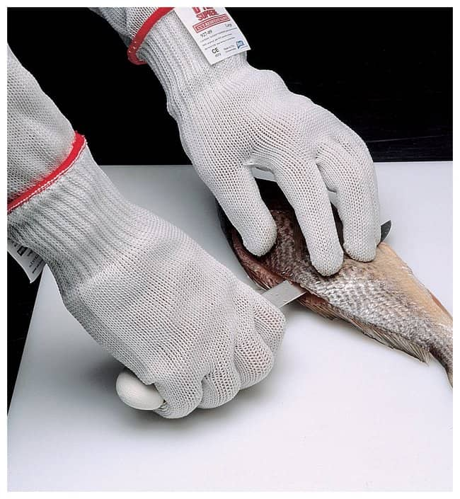 SHOWA D-Flex Plus Gloves Ambidextrous, Without dots, Size: 7, Color: White:Gloves,