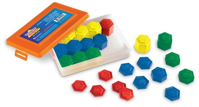 Hexagram Weights 54-Piece set:Education Supplies