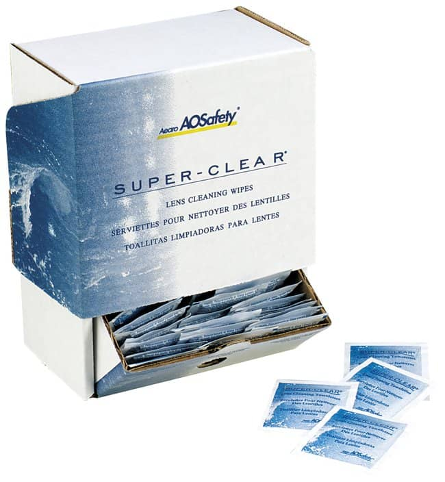 3M Superclear Lens Cleaning Fluid Wipes:Gloves, Glasses and Safety