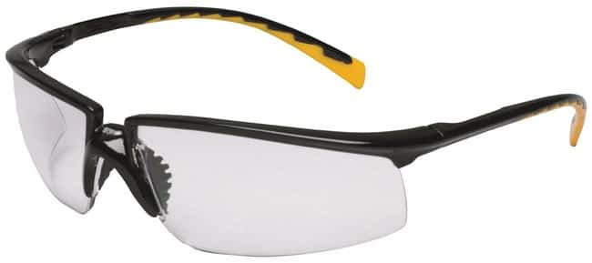3M Privo Safety Eyewear Black frame; Orange temple; I/O mirror lens:Gloves,