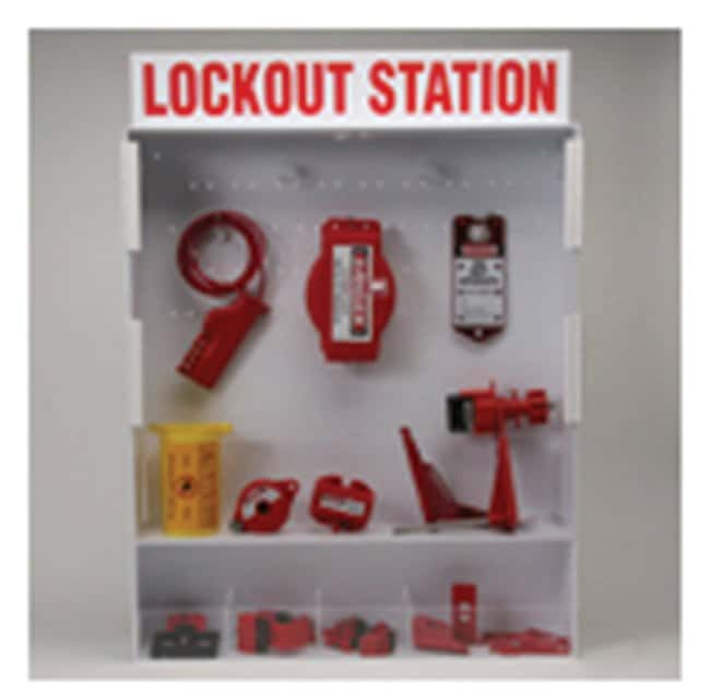 Brady Extra Large Enclosed Lockout Station with Components Translucent