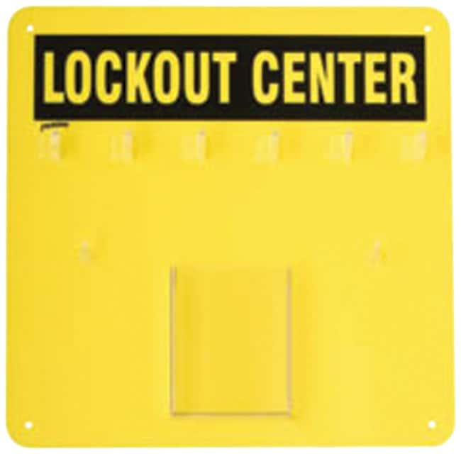 Brady Economy Lockout Board, Yellow Acrylic; 14 in. x 14 in.:Gloves, Glasses