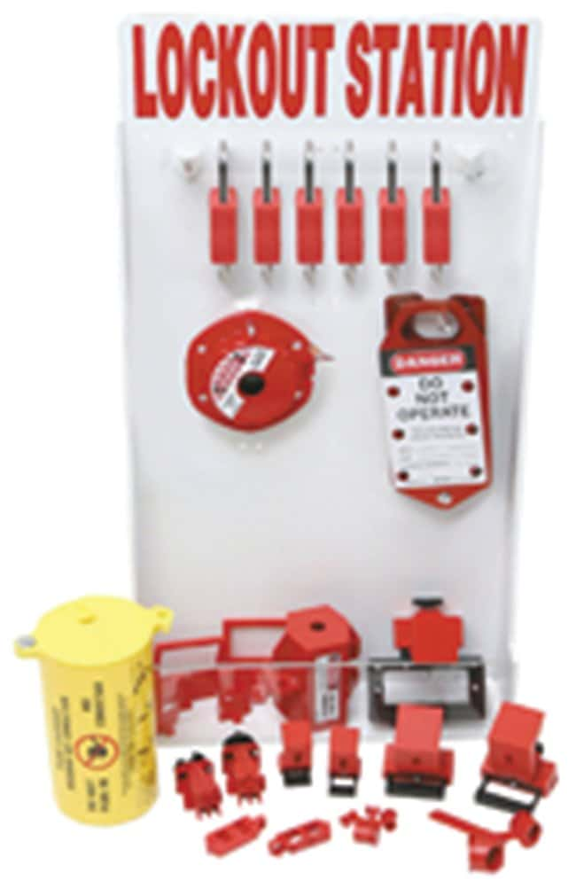 Brady Small Enclosed Lockout Station with Components Polystyrene; 4 in.