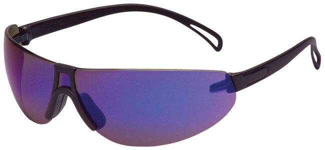 3M Virtua V7 Eyewear Black temples;  Blue mirror lens:Gloves, Glasses and