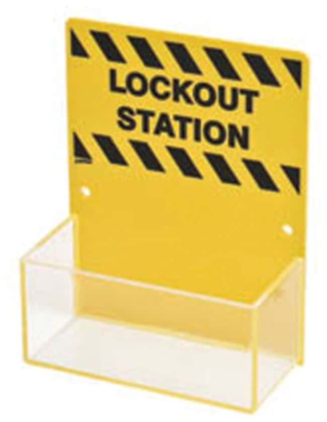Brady Micro Lockout Station, Board Only Acrylic; 2.75 in. x 6.25 in. x