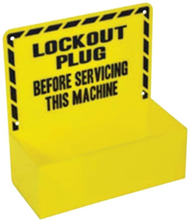 Brady Plug Lockout Station, Board Only Black on yellow; 1/Holder; Acrylic;