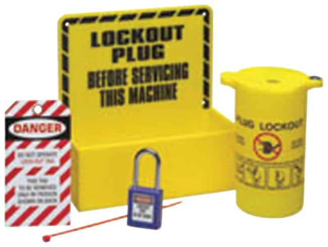 Brady Plug Lockout Station Acrylic; 4 in. x 8.5 in. x 8.5 in.:Gloves, Glasses