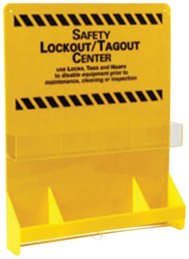 Brady Large Yellow Lockout Board 1/Board; Acrylic; 23.75 in. x 30 in.:Gloves,
