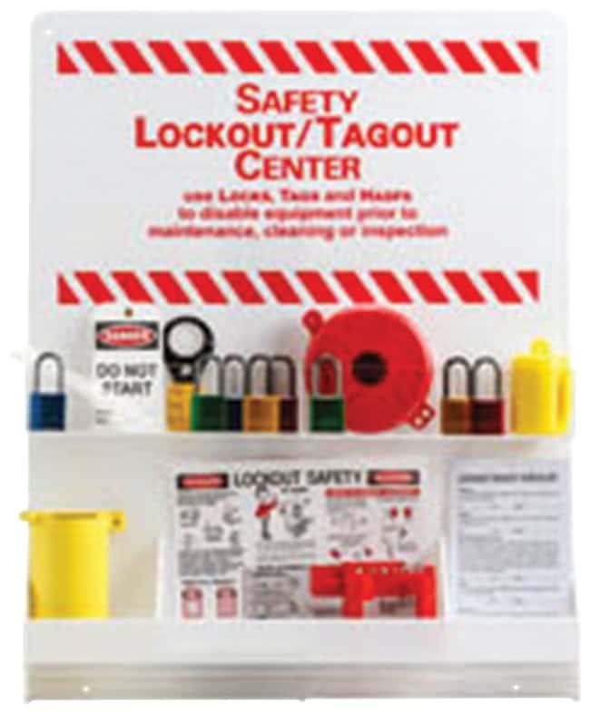 Brady Large White Lockout Center Padlock, center; 23.75 in. x 30 in.:Gloves,