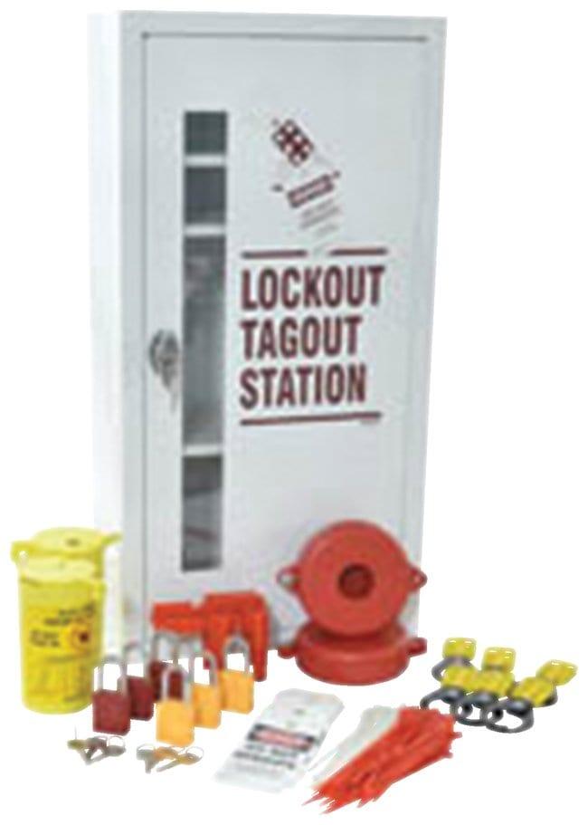 Brady Lockout Tagout Station Powder-coated steel; 9.5 in. x 15 in. x 30.25