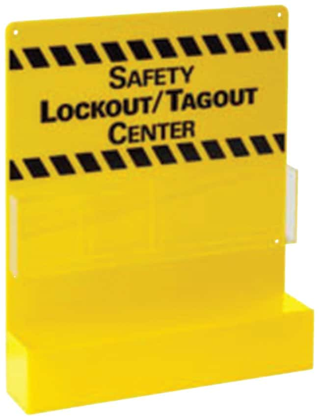 Brady Small Yellow Lockout Board 1/Board; Acrylic:Gloves, Glasses and Safety