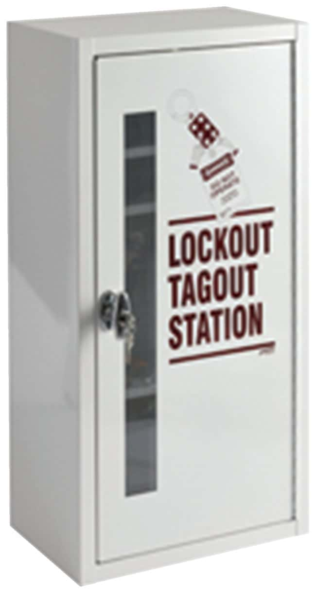 Brady Lockout Tagout Station, Cabinet Only with Locking Handle Opaque door;