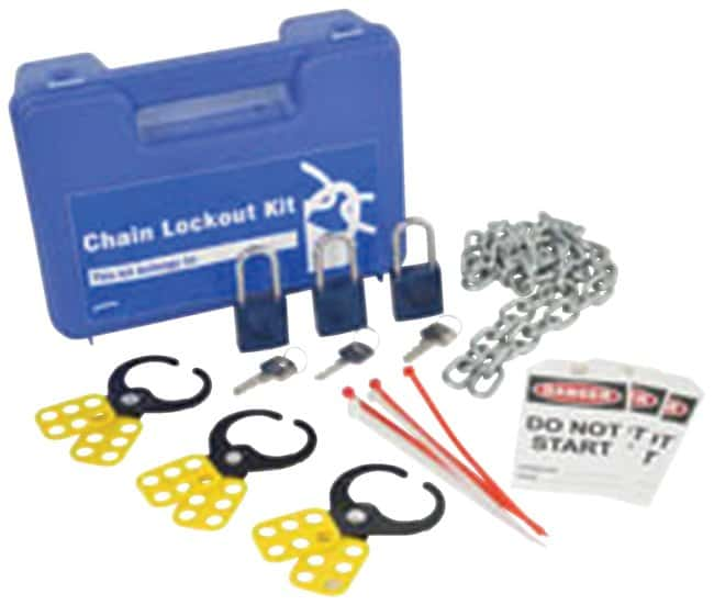Brady Lockout Kit, blue 1/Kit; 5 in. x 12 in. x 7 in.:Gloves, Glasses and