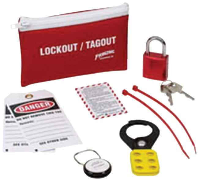 Brady Standard Lockout Beltpack Beltpack; White on red; 1/Kit:Gloves, Glasses