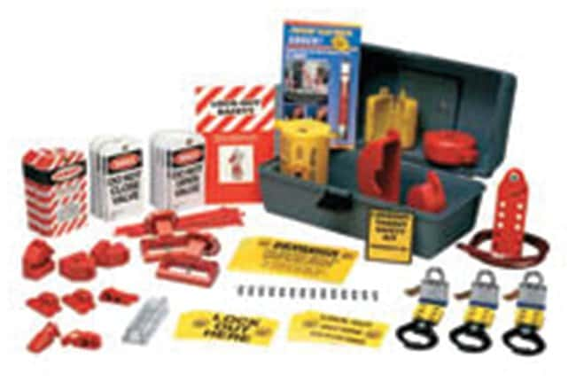 Brady DELUXE Lockout Kit Electrical & mechanical risk lockouts:Gloves,
