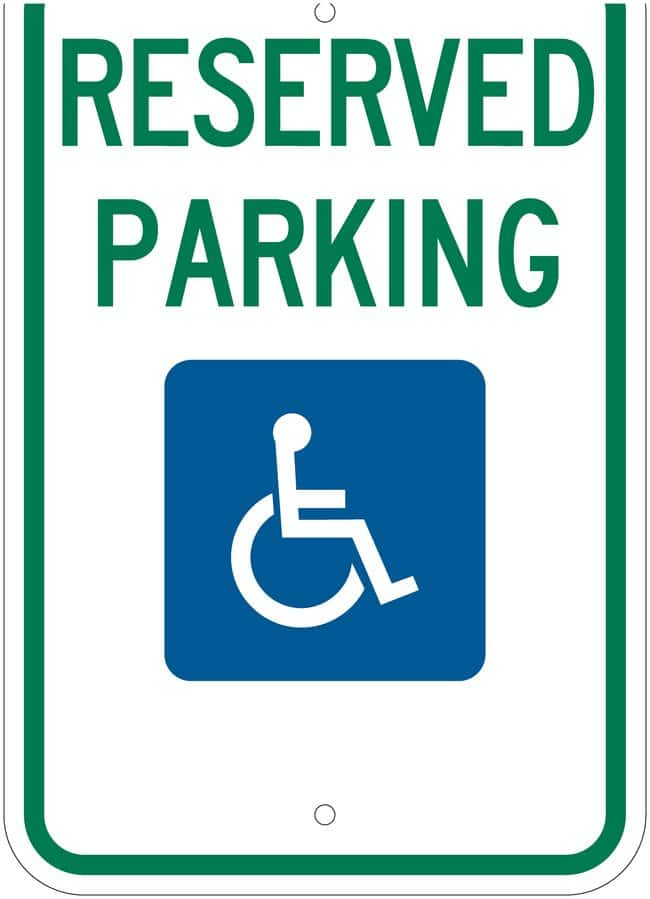Brady B-959 Federal Handicap Parking Sign: RESERVED PARKING Legend: RESERVED