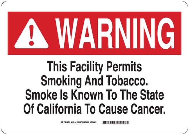 Brady Bradylam Fiberglass Warning Sign: (No Text) Black/red on white; Non-adhesive;