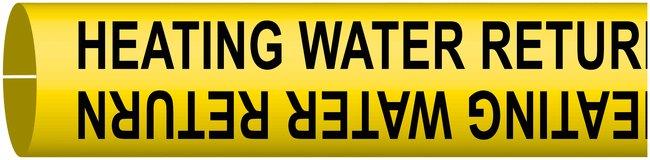 BradyBradySnap-On Pipe Markers, Legend: HEATING WATER RETURN:Facility Safety