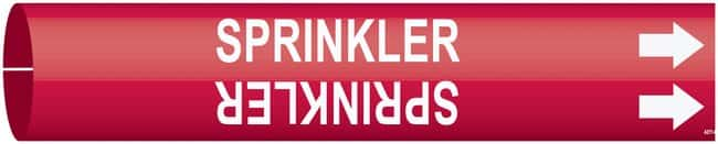 BradyBradySnap-On Pipe Markers, Legend: SPRINKLER:Facility Safety and Maintenance:Labels