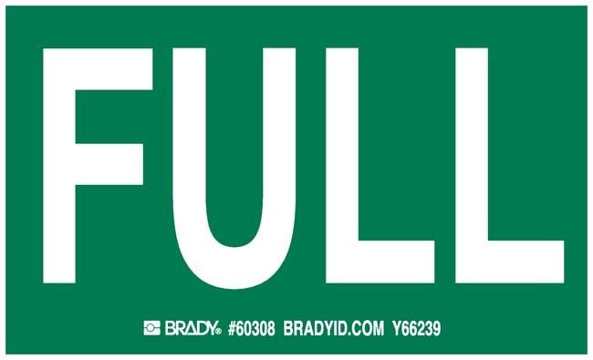 Brady Gas Cylinder Label, Legend: FULL Legend: FULL:Gloves, Glasses and