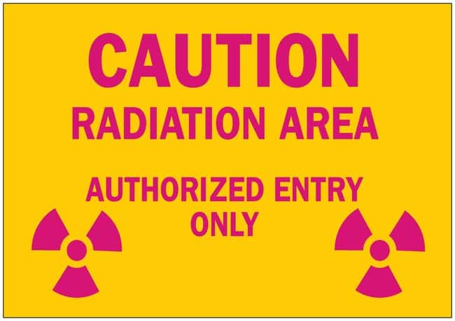 Brady Radiation and Laser Signs CAUTION RADIATION AREA AUTHORIZED ENTRY