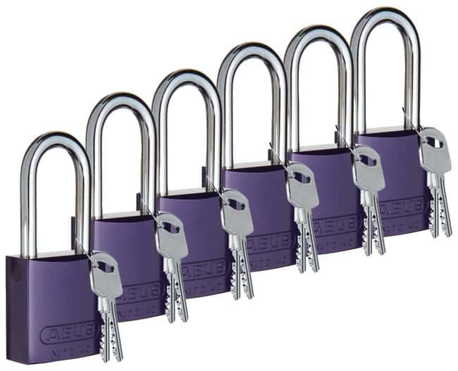BradyKeyed-Different Aluminum Padlocks with 1 in. Chrome-Plated Steel Shackle